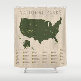 US National Parks Shower Curtain