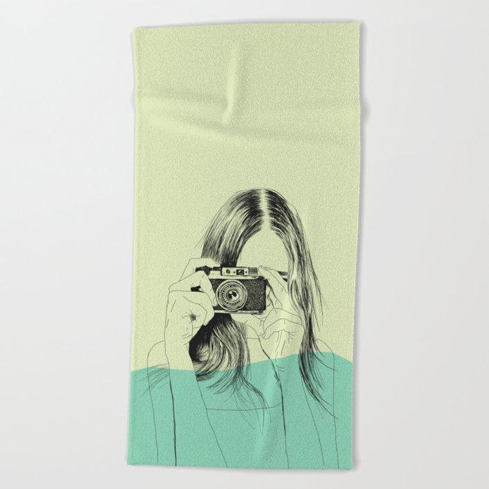 Woman Color 11 Beach Towel