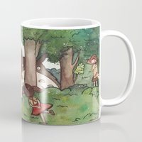 studio ghibli Mugs featuring Studio Ghibli Crossover by malipi