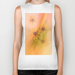 4 Sunflowers Biker Tank