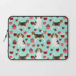 Beagle valentines day cupcakes heart love dog breed must have gifts Laptop Sleeve