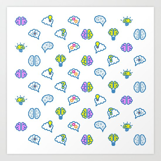 Brain Pattern Art Print