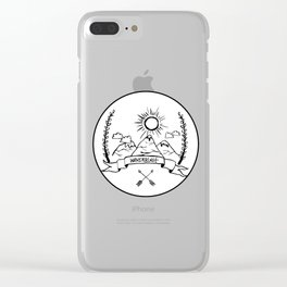 Mountain Wanderlust Clear iPhone Case