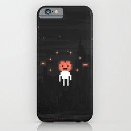 Hovering Halloween pumpkin head iPhone Case