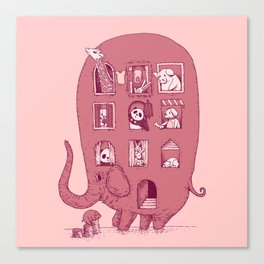 Elephant Bus - FatPanda Canvas Print