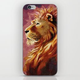 Proud lion iPhone Skin