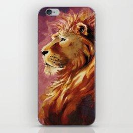Proud lion iPhone Skin