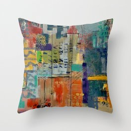 Conversing in Color Throw Pillow
