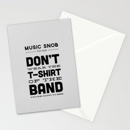 The Shirt of the Band — Music Snob Tip #376 Stationery Cards