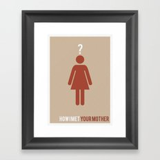 How I Met Your Mother - Minimalist Framed Art Print