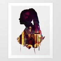cosima Art Prints featuring Cosima Niehaus by Myriam Meyer