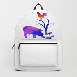 Pigs on the farm Backpack