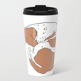 Basset Hound Metal Travel Mug