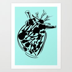 Heart with guitars Art Print