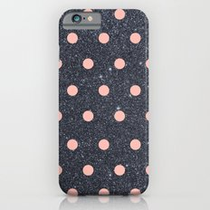 Black Glitter and Pink Polka Dots Slim Case iPhone 6