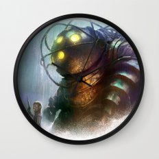 Mr Bubbles strolling  Wall Clock