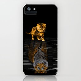 Cute Little Baby Hobbes tiger cat iPhone Case