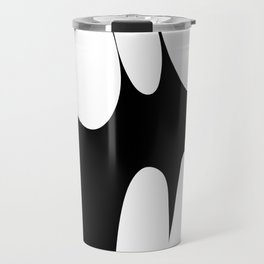 Precarious b&w Travel Mug