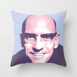 Michel Foucault Throw Pillow