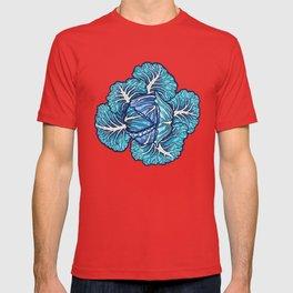 blue winter cabbage T-shirt