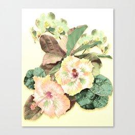 Tropical Botanical Yellow Canvas Print