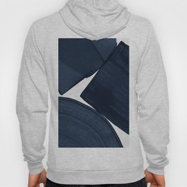 Minimalist Painting Blue II, Modern Abstract Hoody