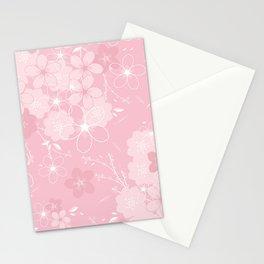 Pink Sakura Stationery Cards