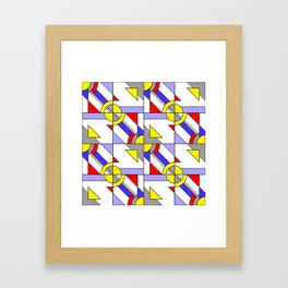 Pop Art Pattern Framed Art Print