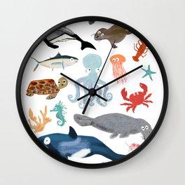 Sea Change: Ocean Animals Wall Clock