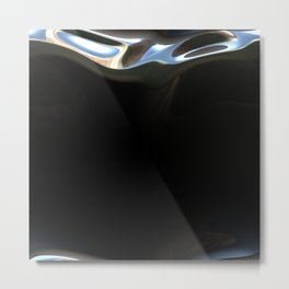 Luxury silver mirror Metal Print