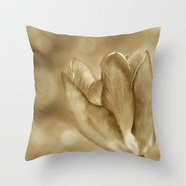 Tulip (Sepia) Throw Pillow