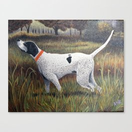 Pointer Quail Hunt Painting Canvas Print