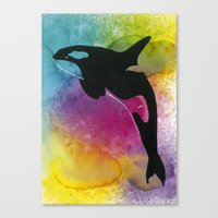killer whale Canvas Prints featuring Killer whale! by Ann-Charlotte K