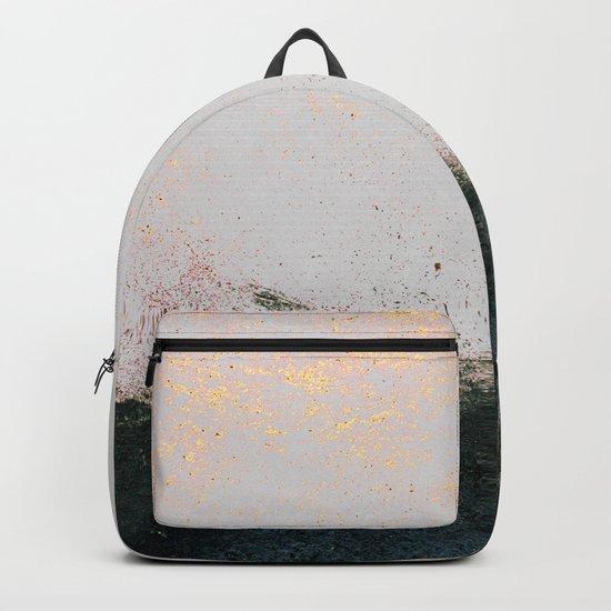 abstract smoke wall painting Backpack