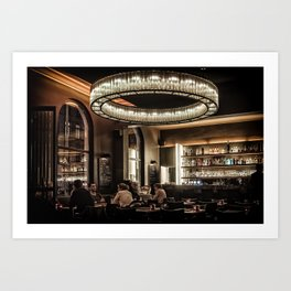 Dining in Style Art Print