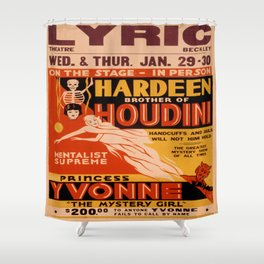 Vintage poster - Hardeenm Brother of Houdini Shower Curtain