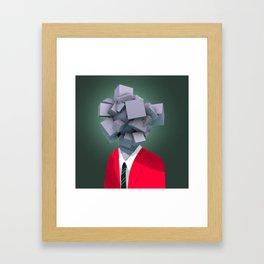 Office Man Framed Art Print