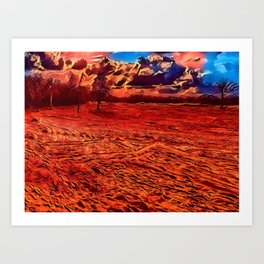 Texas Sand Box - Colored Graphic Art Print