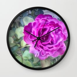 MY FIRST ROSE Wall Clock