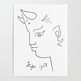 Jean Cocteau Tete de Faune (Head of Fauna), Artwork, Posters, Prints, Tshirts, Men, Women, Kids Poster