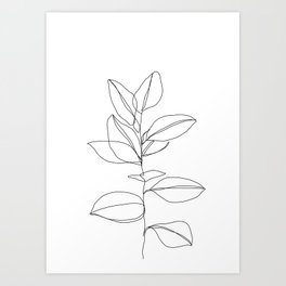 One line plant illustration - Dany Art Print