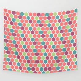 Ball Pit Hexagons Wall Tapestry