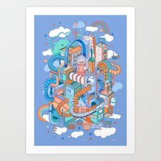 George's place Art Print