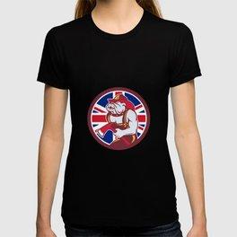 British Bulldog Fireman Union Jack Flag Icon T-shirt