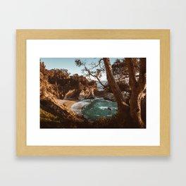 Big Sur Sunset at McWay Falls Framed Art Print