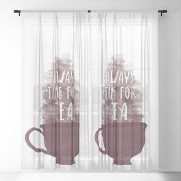 Always Time For Tea Sheer Curtain