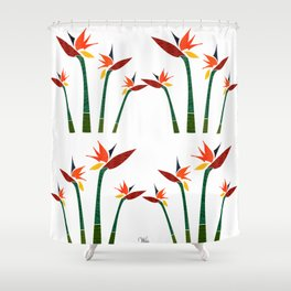 Strelizia Shower Curtain
