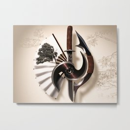 Martial Arts Weapon Metal Print