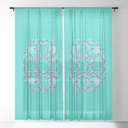 "CA Fantasy ""For Tiffany color"" series #2 Sheer Curtain"