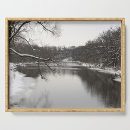 Winter on the River Serving Tray
